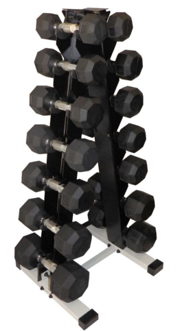 pyramid dumbbell rack