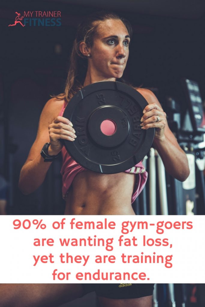 Those pretty pink dumbbells were clearly designed for women. But... at just 2lbs, those  little dumbbells are scarcely weight lifting. Women tend to pick these because they don't want to bulk up, but that's a mistake.