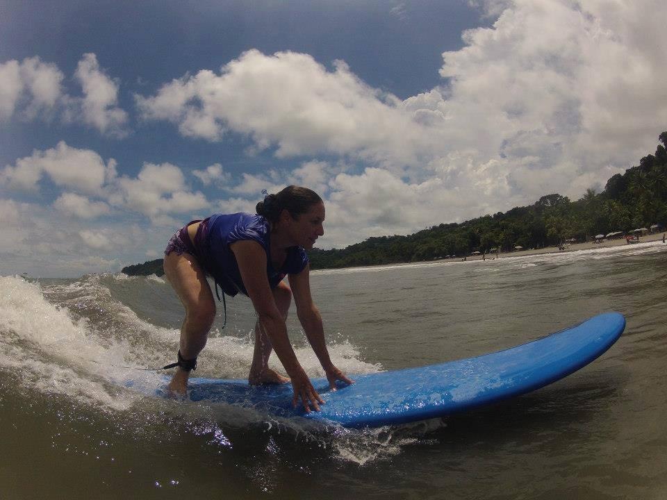 woman surfing, costa rica surfing