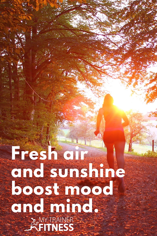 We've all noticed that sunshine and fresh air have a positive effect on most of us. Just consider the throngs of happy people making their way outside to grassy knolls and park strolls as they enjoy sunshine in the spring. #quotes #fitness #health #sun #mood #mentalhealth #mind